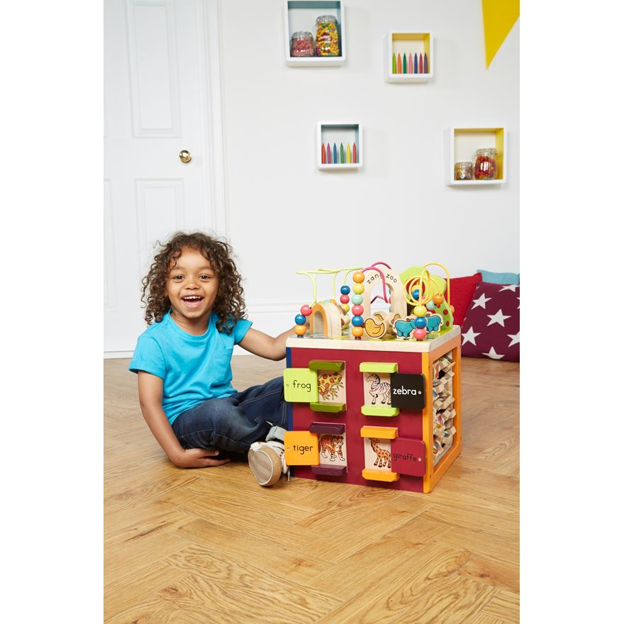 B. Zany Zoo Wooden Activity Cube image-0