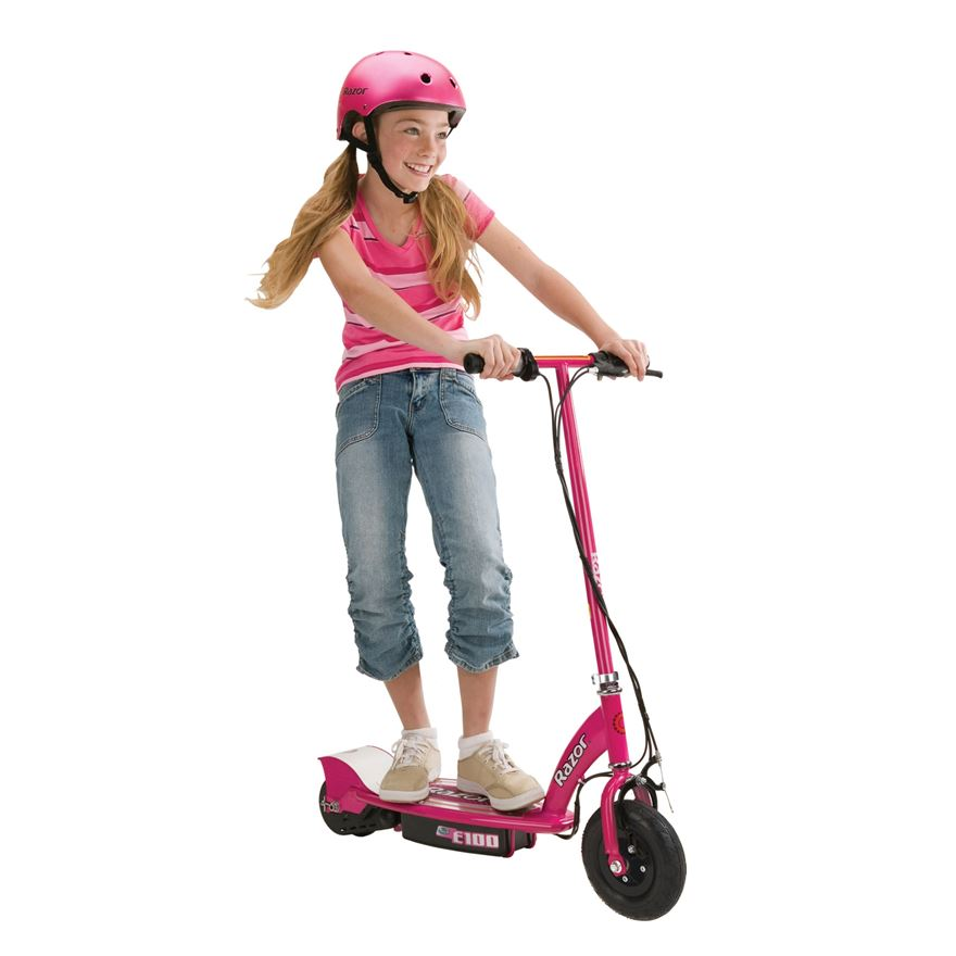 Razor E100 Electric Scooter Pink image-0