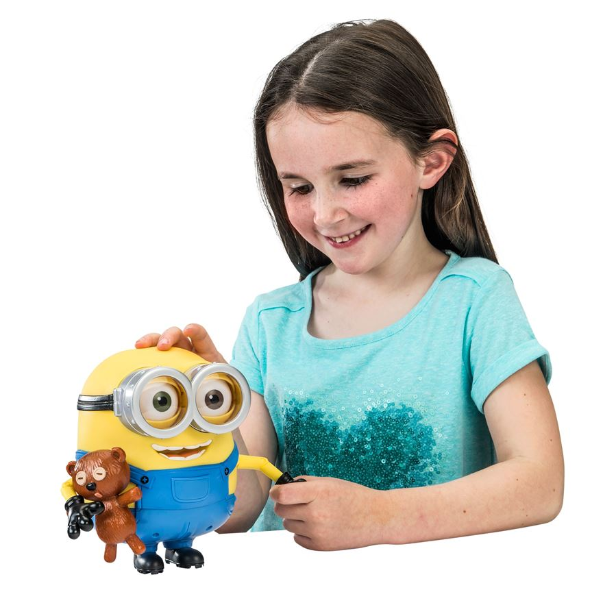 Minions 18cm Minion Bob Talking Action Figure with Accessory image-0