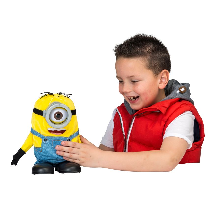 Minions 23cm Tumblin' Stuart Talking Plush image-0