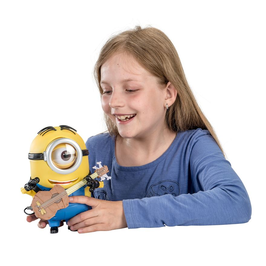 Minions 20cm Minion Stuart Talking Action Figure with Accessory image-0