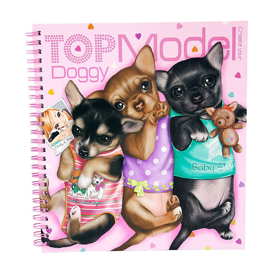 Create your TOPModel Doggy Colouring Book image-0