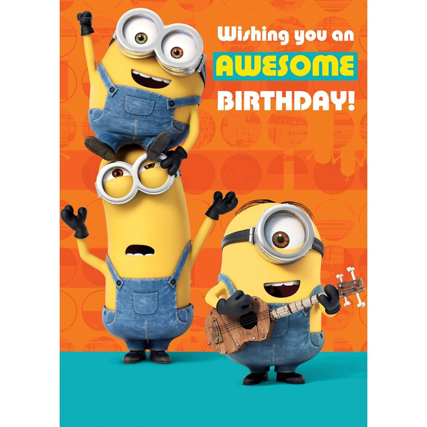 Minions Birthday Card image-0