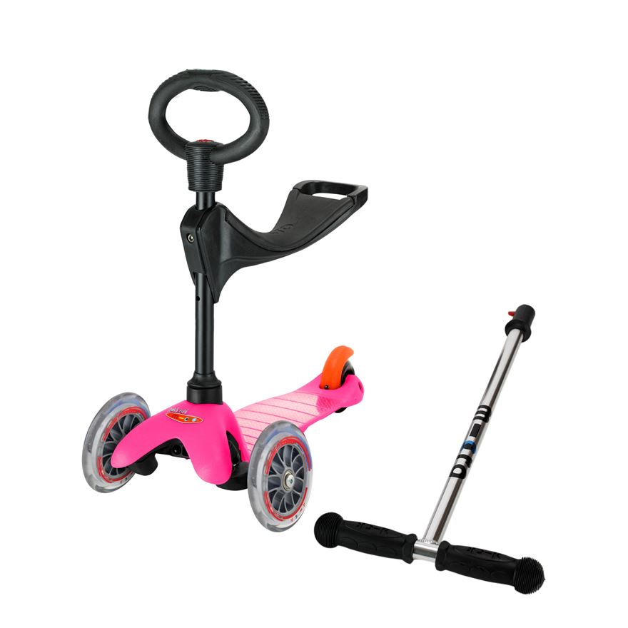 Mini Micro 3 in 1 Pink Scooter image-0