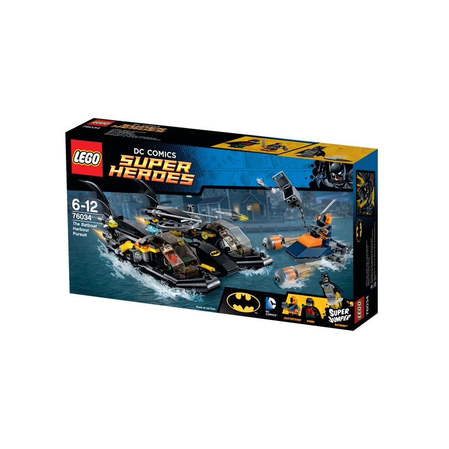 LEGO DC Comics  Super Heroes The Batboat Harbour Pursuit 76034 image-0