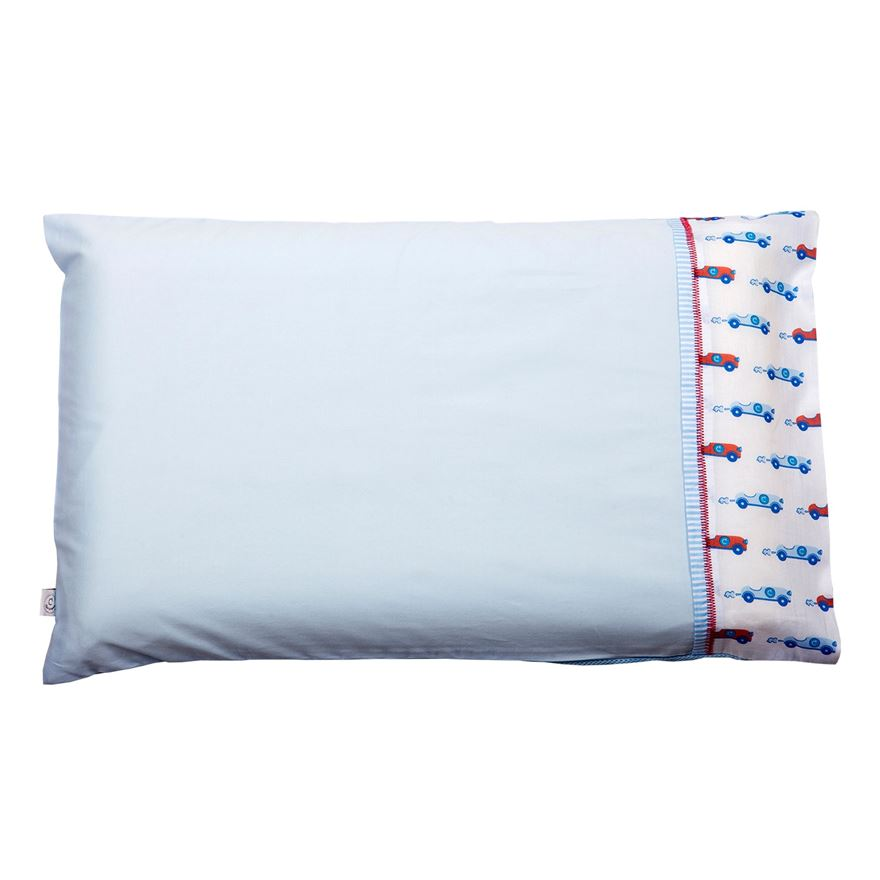 Clevamama Toddler Pillow Case - Blue image-0