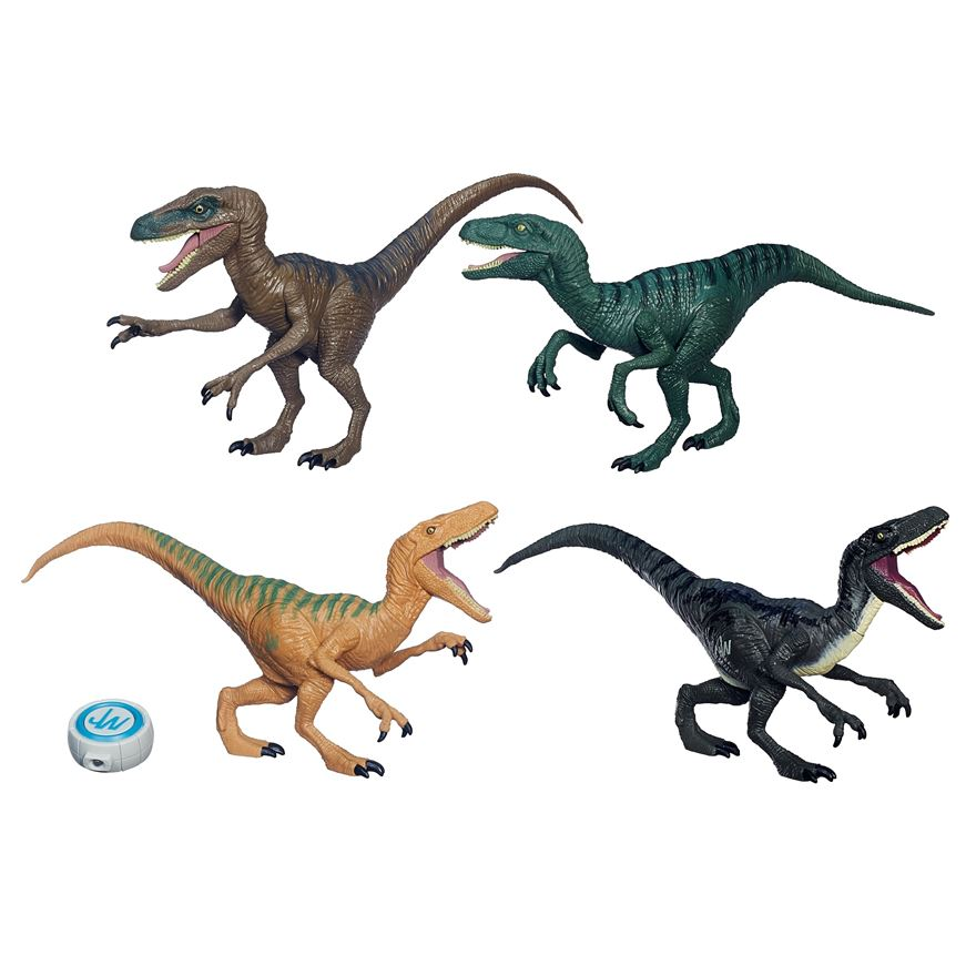 Jurassic World Raptor 4 Pack image-0