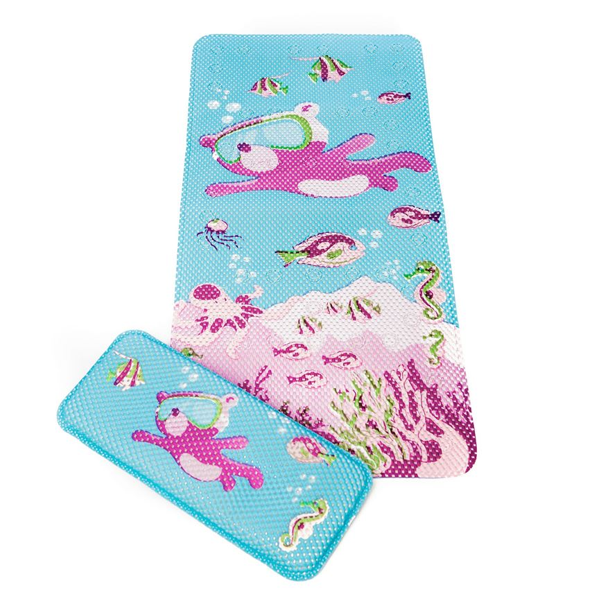 Clevamama Under The Sea Bath Mat  &  Kneeling Cushion image-0