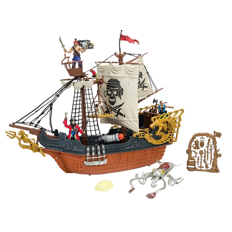 Deluxe Captain Pirate Ship Playset image-0