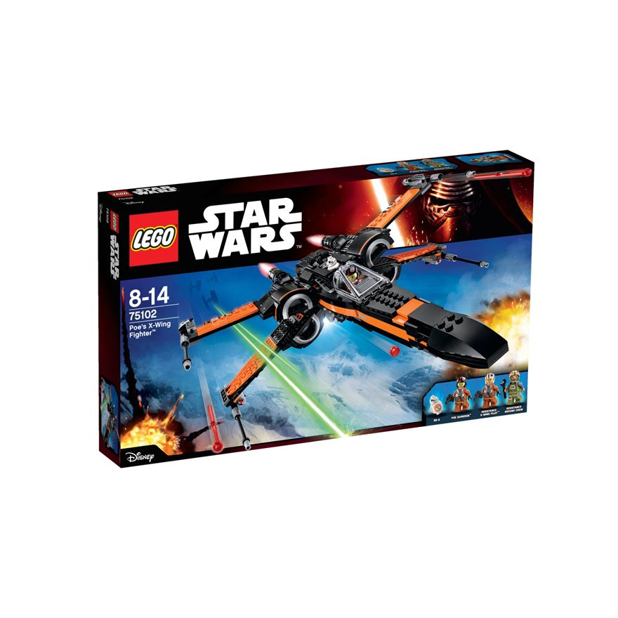 LEGO Star Wars Force Awakens Poe's X-Wing Fighter 75102 image-0