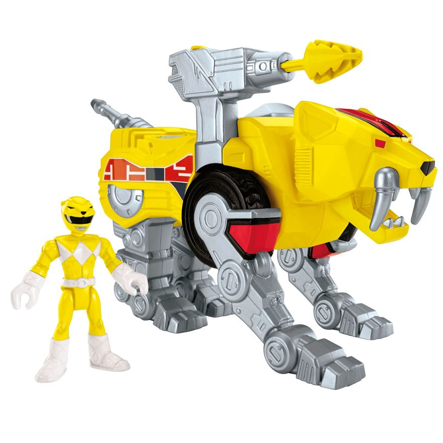 Imaginext Power Rangers Yellow Ranger and Sabertooth Zord image-0
