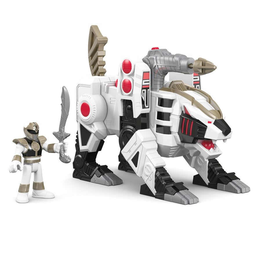 Fisher-Price Imaginext Power Rangers White Ranger and Tiger Zord image-0