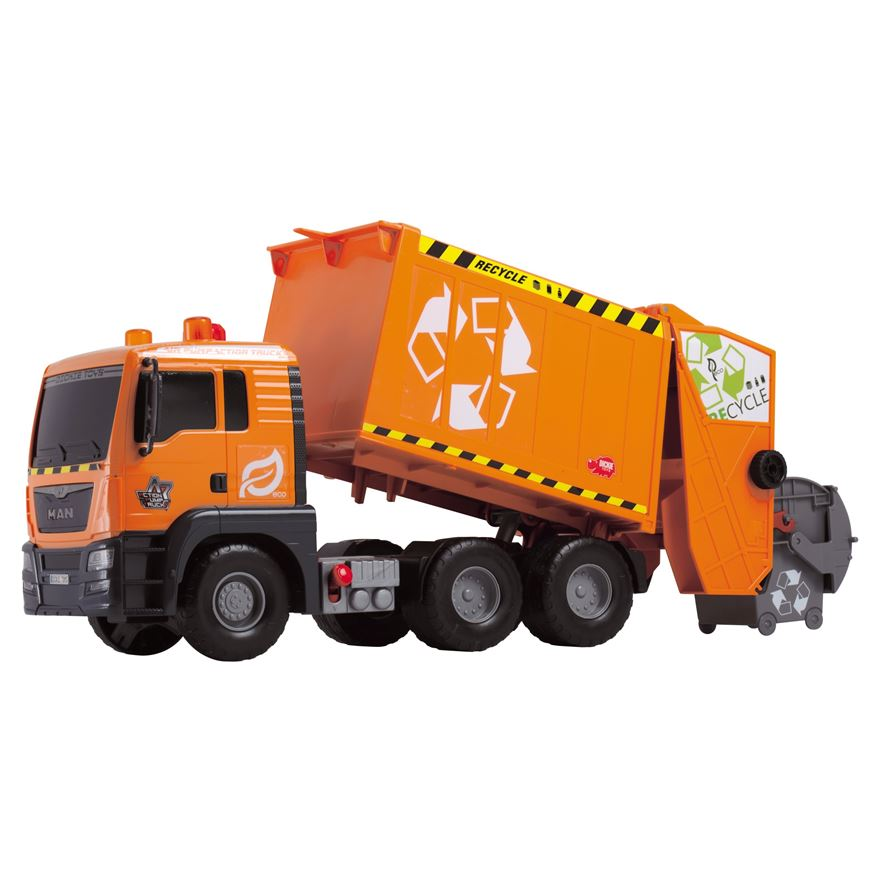 55cm Orange Refuse Truck image-0