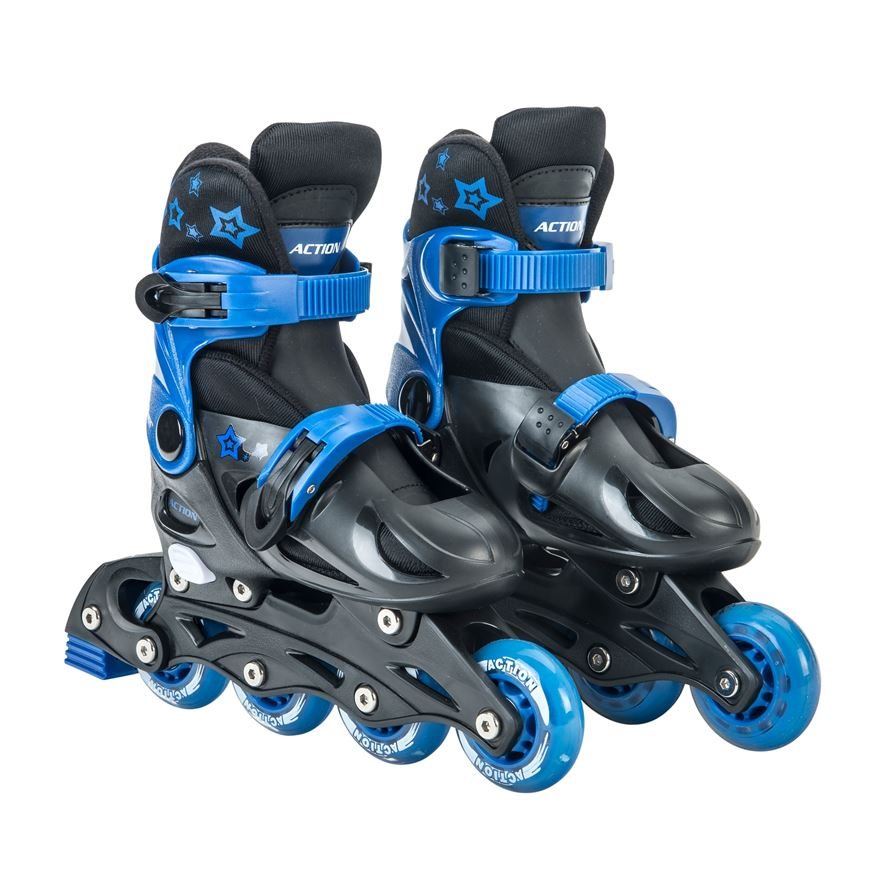 Adjustable Inline Skate 1-3 (UK) Blue/Black image-0