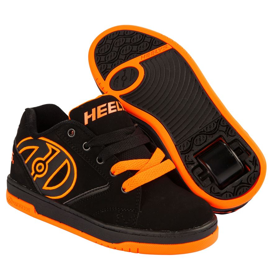 Propel 2.0 Heelys, Black/Bright Orange Size 4