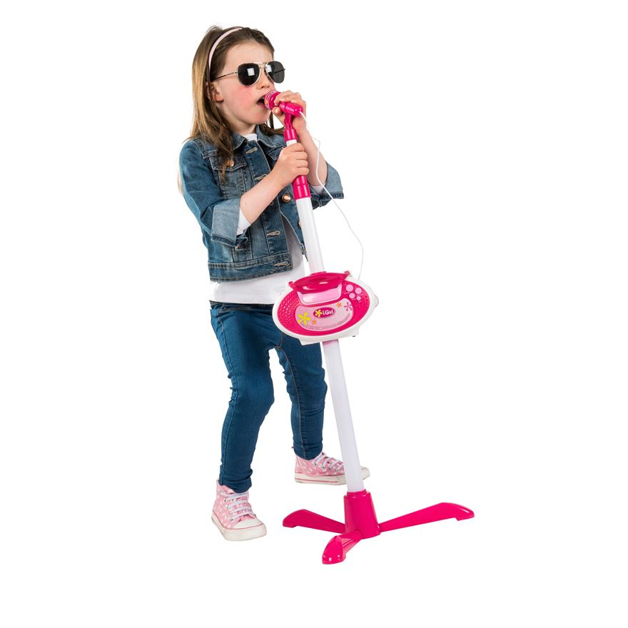 Pink Microphone & Stand image-0