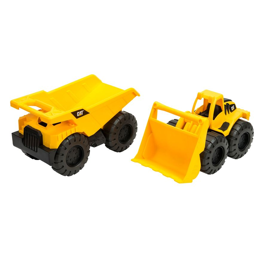 CAT Twin Pack Dump Truck and Wheel Loader image-0