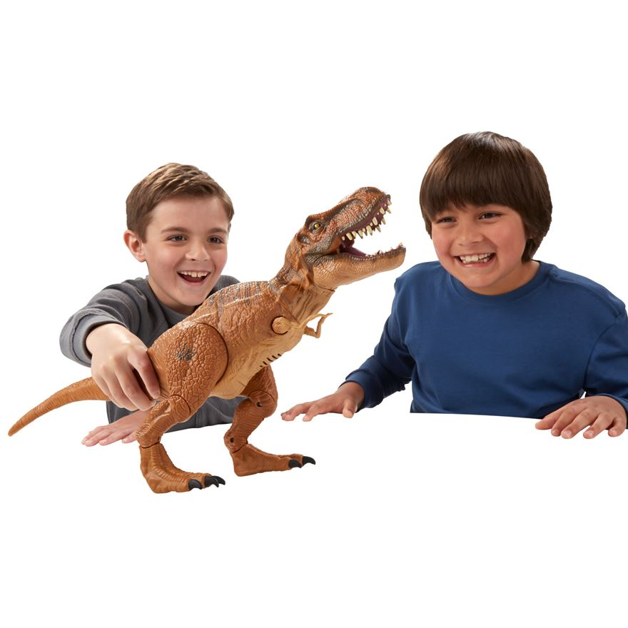 Jurassic World Stomp and Strike Tyrannosaurus Rex Figure image-0