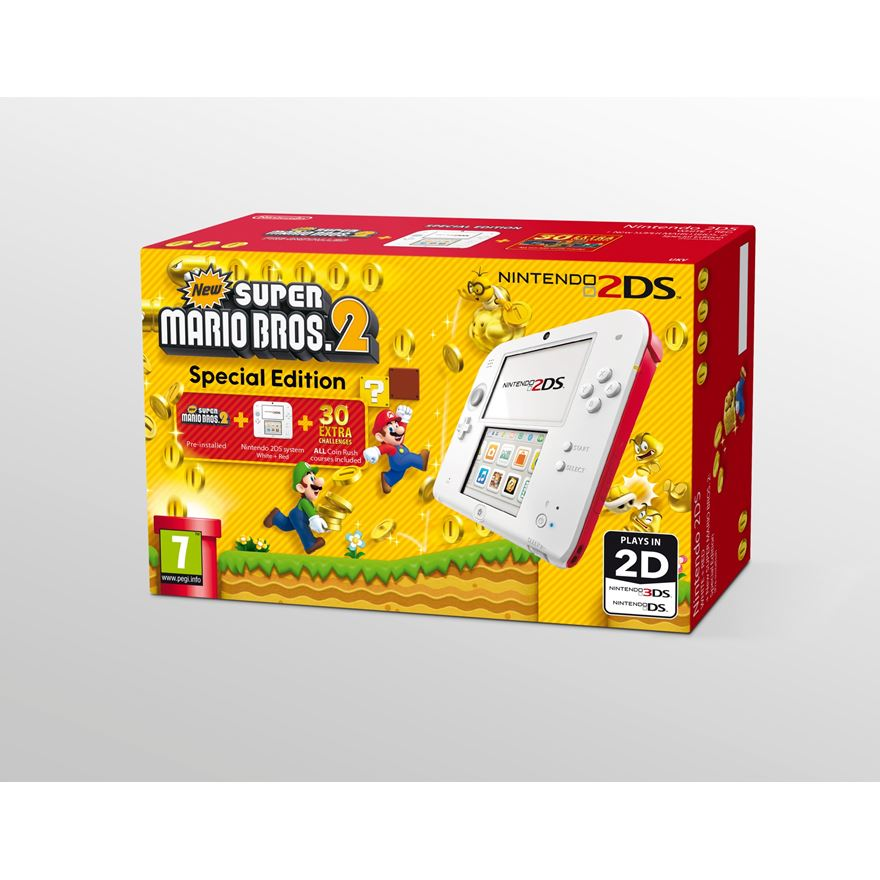 Nintendo 2DS Console + New Super Mario Bros 2 Bundle