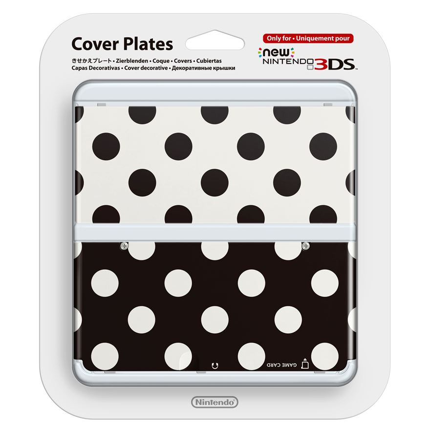 New Nintendo 3DS Coverplate: Black and White Dots