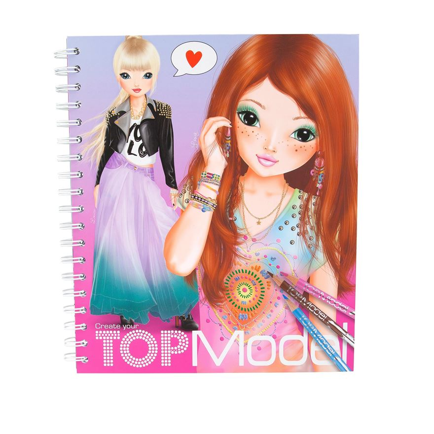 Create your TOP Model Colouring Book