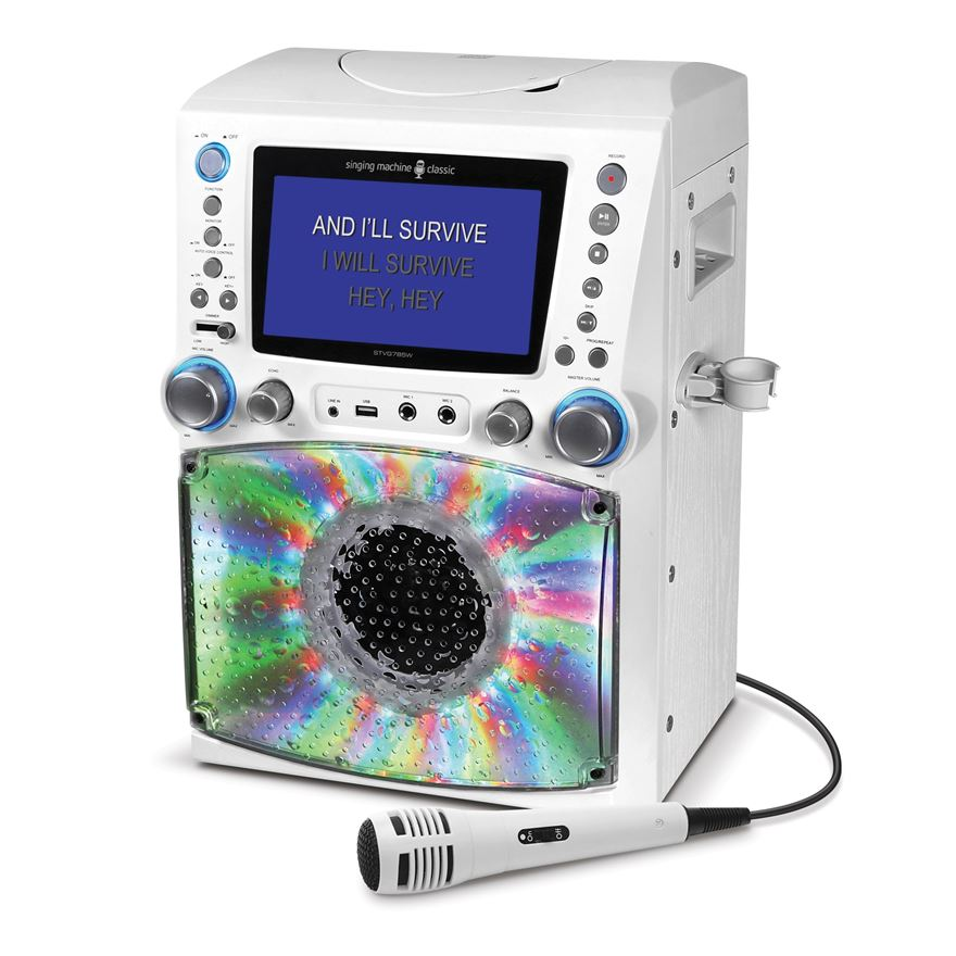 Singing Machine STVG785 LCD Karaoke Machine White image-0