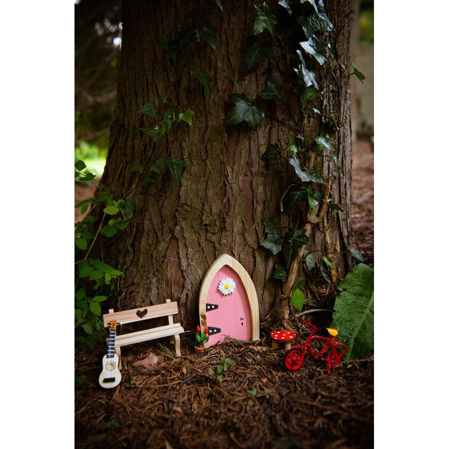Irish Fairy Door Pink Arched image-0