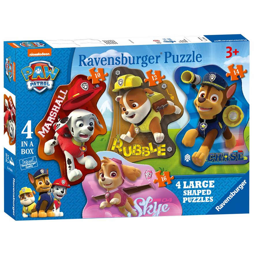 Paw Patrol 4 Shaped Puzzles image-0
