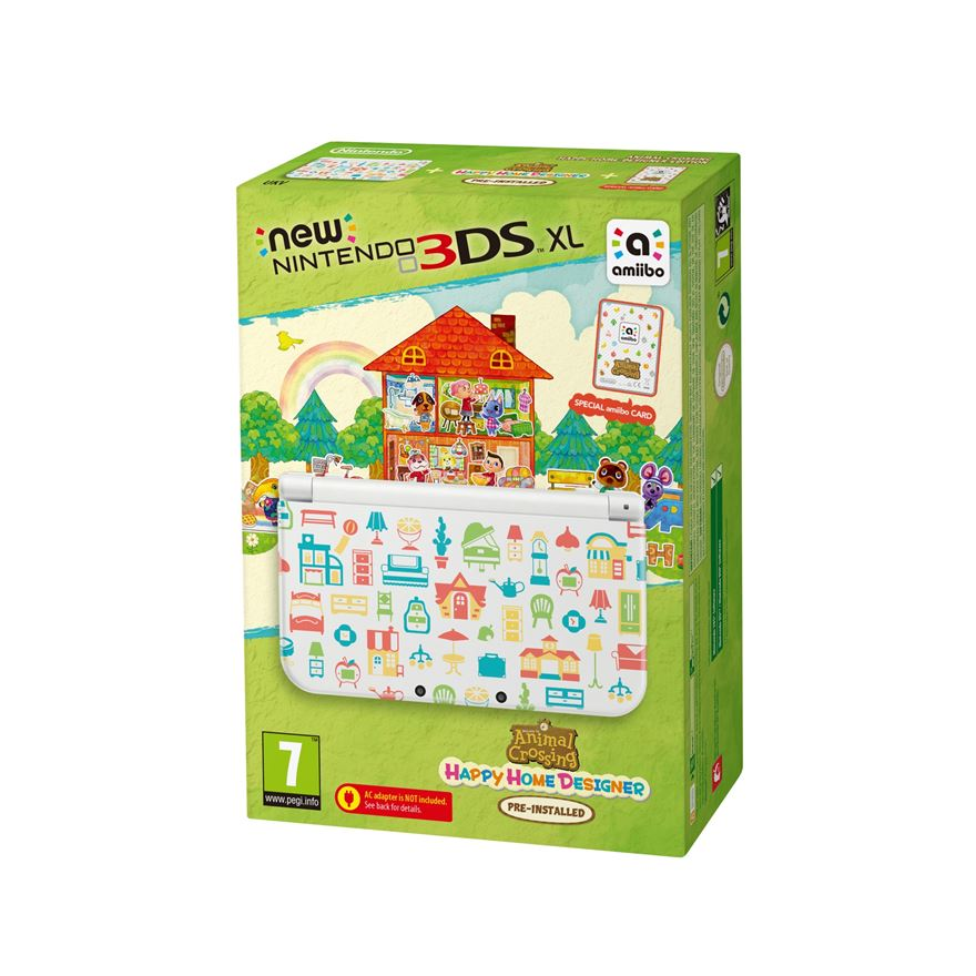 New Nintendo 3DS XL Console + Animal Crossing Happy Home Designer