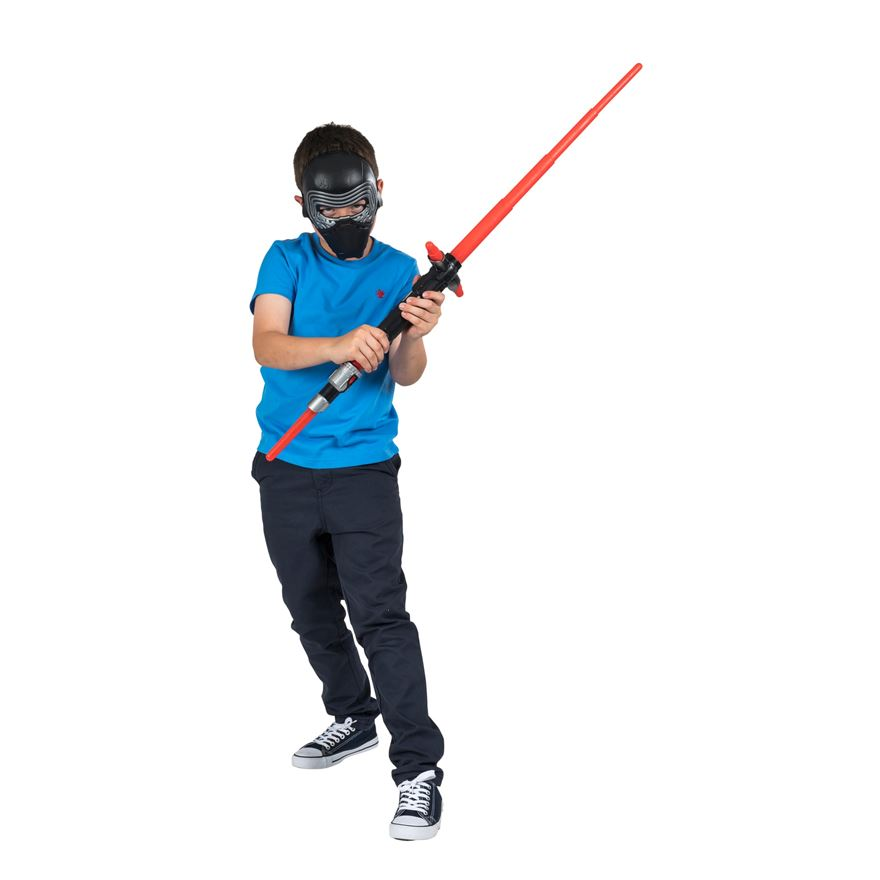 Star Wars The Force Awakens Kylo Ren Mask and Lightsaber image-0
