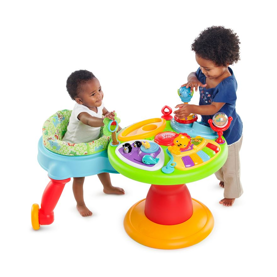 Bright Starts 3-in-1 Around we Go Activity Center image-0