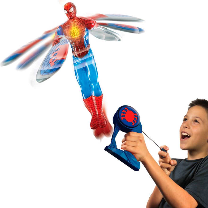 Light Up Spiderman Flying Hero image-0