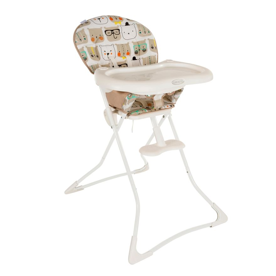 Graco Teatime Bow Time Bear Highchair image-0