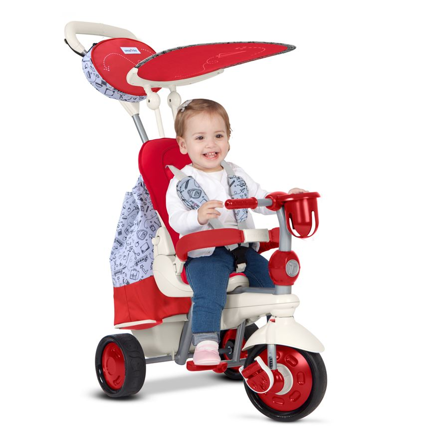Smart Trike Dazzle - Red and White image-0