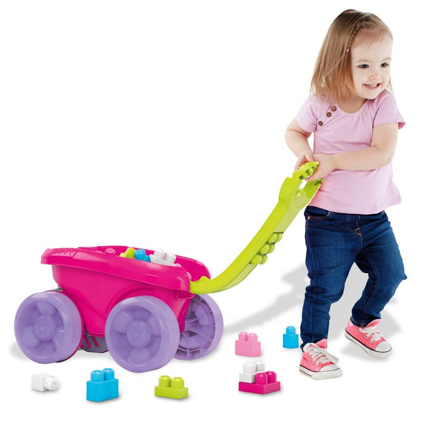 Fisher-Price Mega Bloks First Builders Block Scooping Wagon - Pink image-0