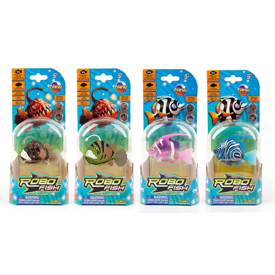 Robo Fish Deep Sea Angler and Whimper Fish - Assortment image-0
