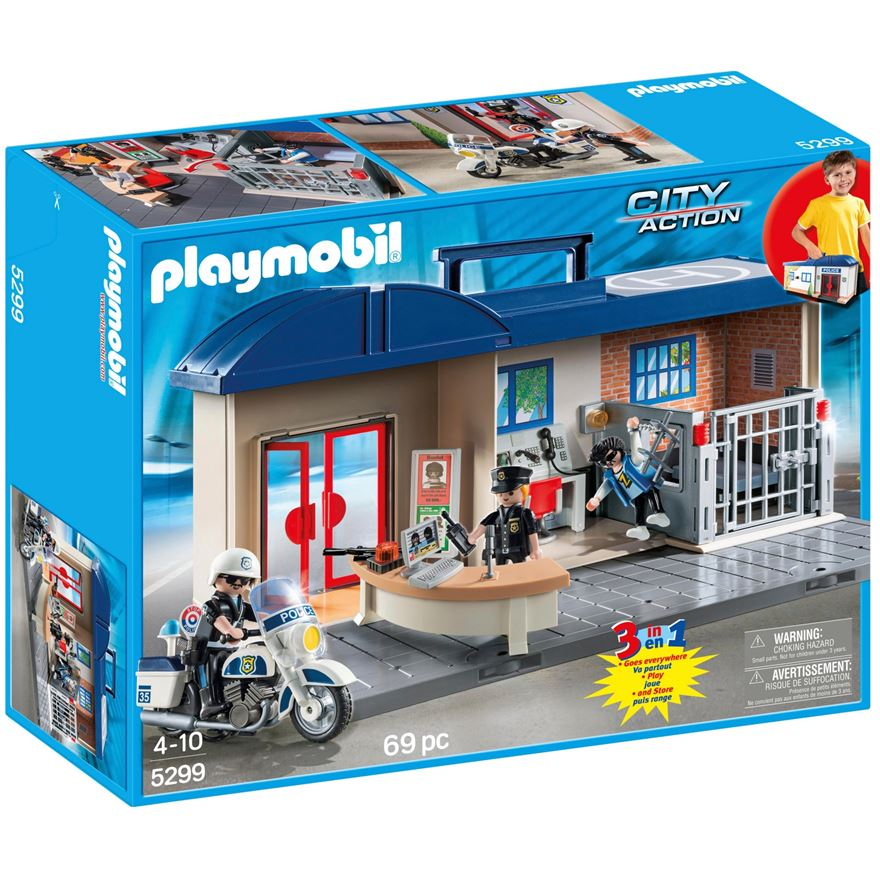 Playmobil City Action Take Along Police Station 5299 image-0