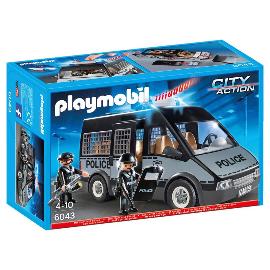 Playmobil City Action Police Van with Lights and Sound 6043 image-0