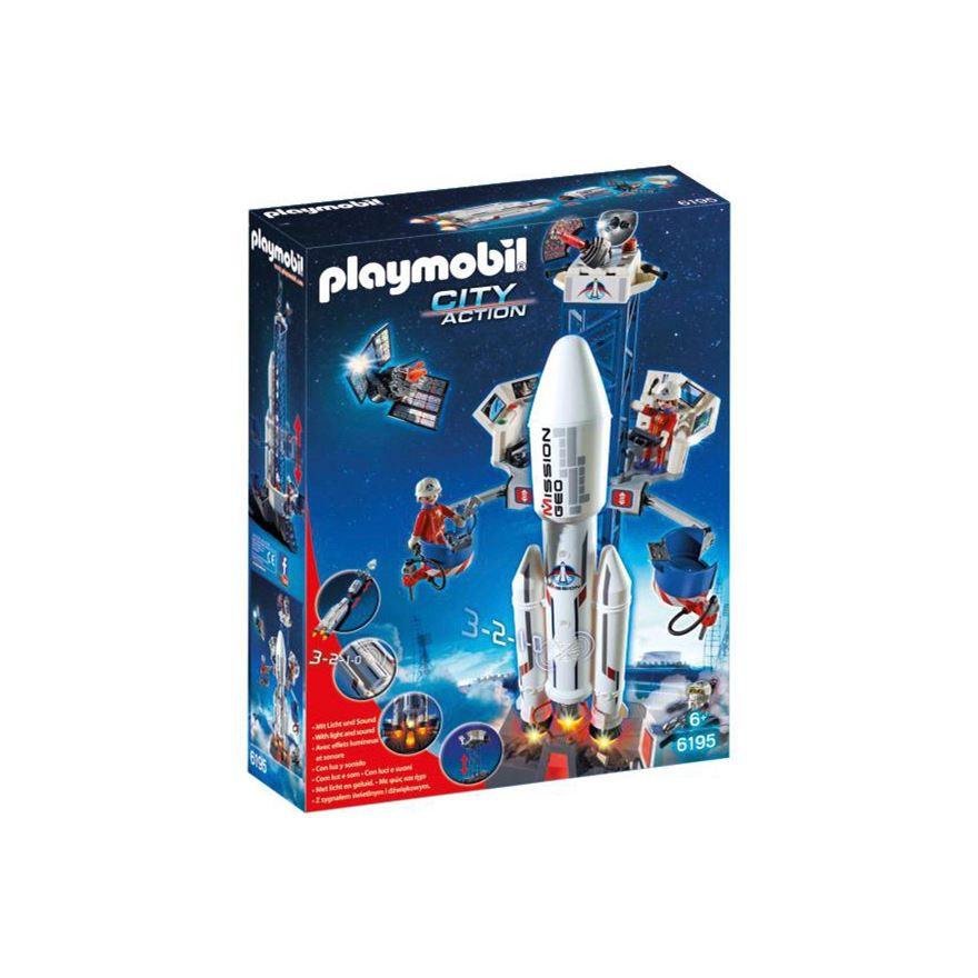Playmobil City Action Space Rocket with Launch Site 6195 image-0