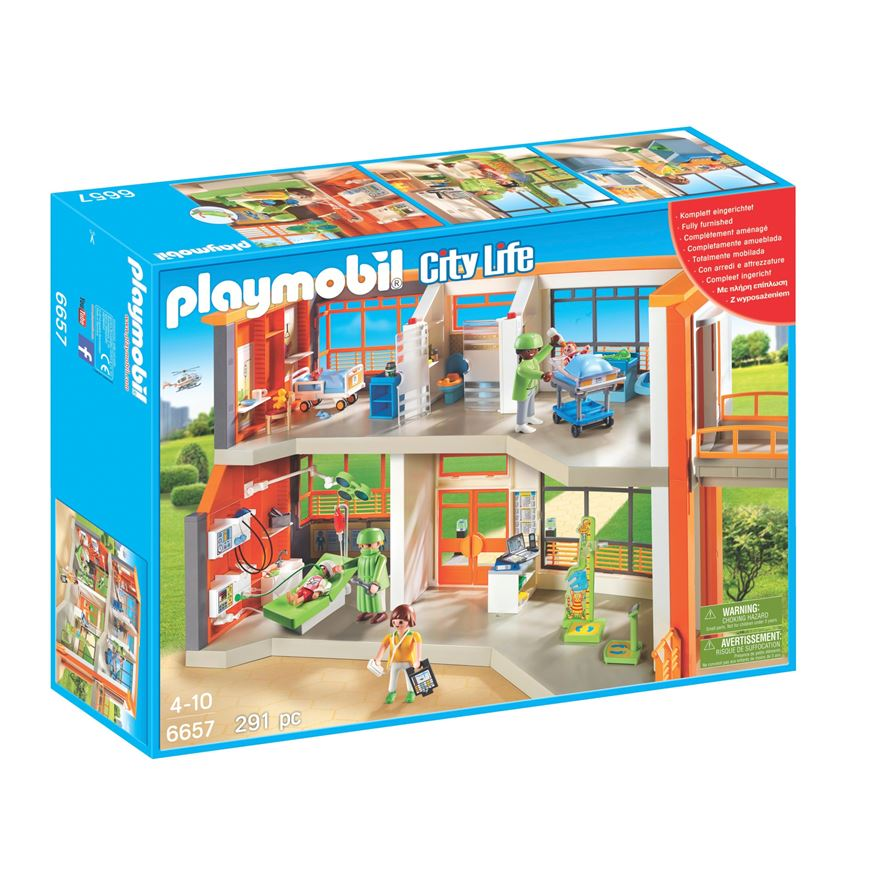 Playmobil City Life Furnished Children's Hospital 6657 image-0