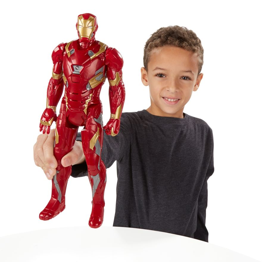 Marvel Captain America: Civil War Iron Man Electronic Titan Hero Tech Figure image-0