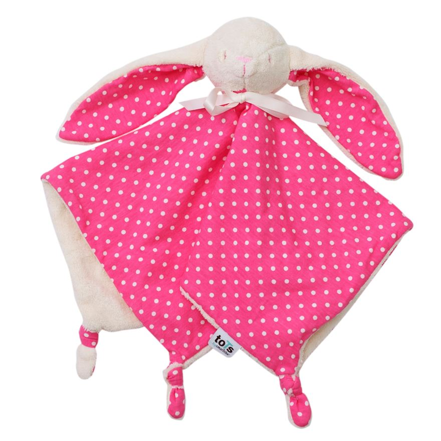 toTs by smarTrike Joy Bunny Comforter - Pink image-0