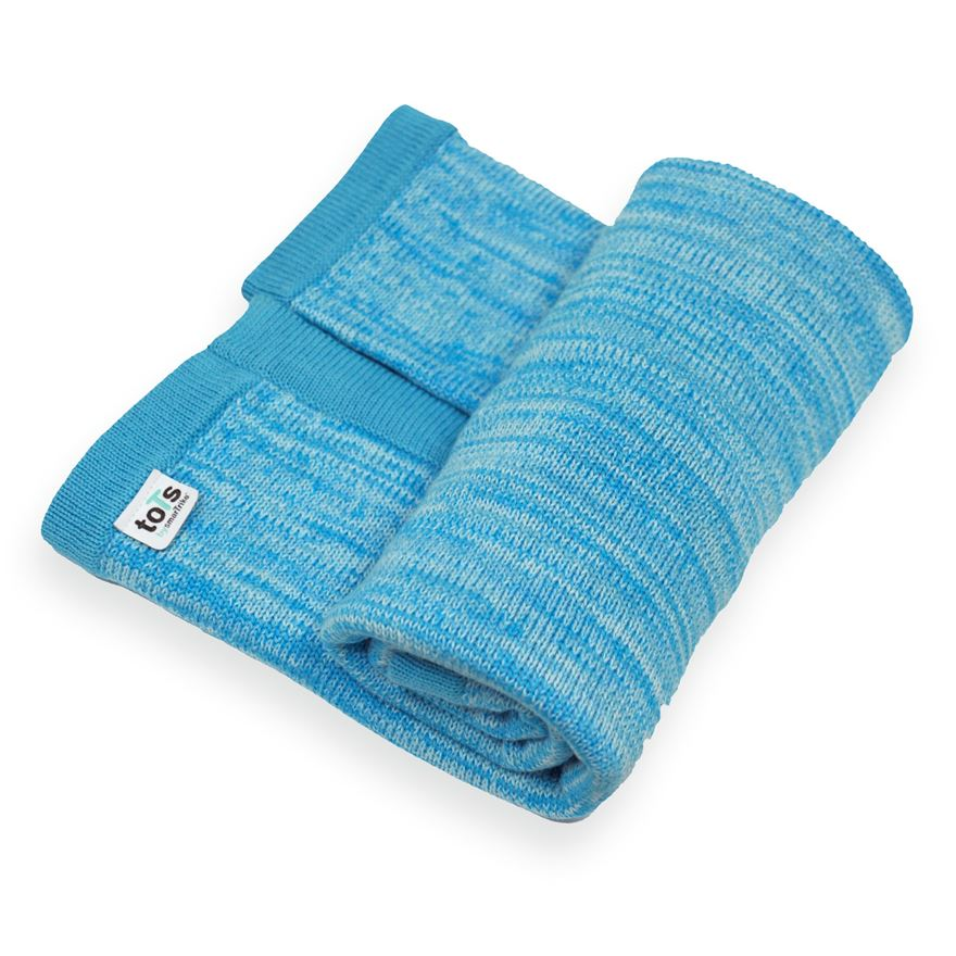 toTs by smarTrike Joy Knitted Blanket - Blue image-0