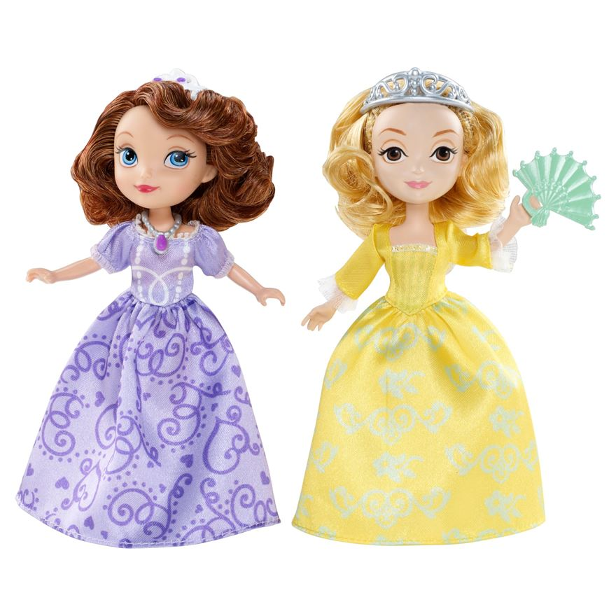 Disney Sofia the First Princes Sisters Dolls image-0