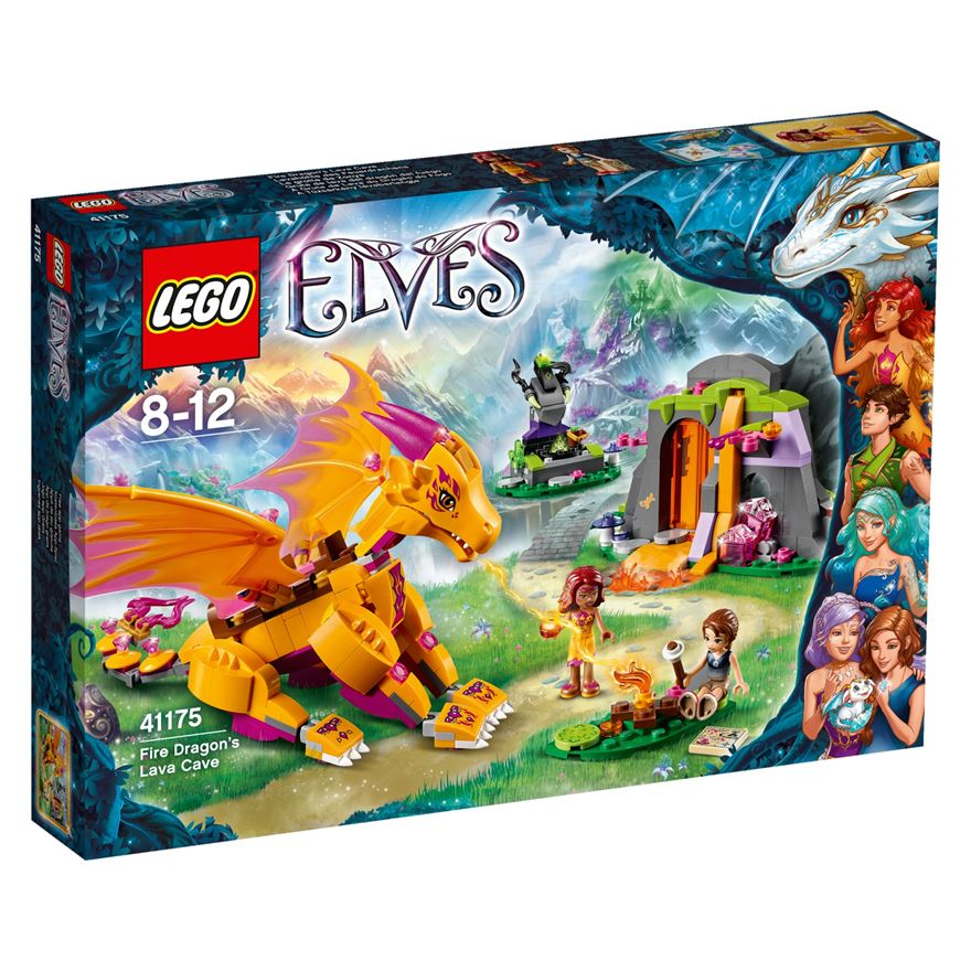 LEGO Elves Fire Dragon's Lava Cave 41175 image-0