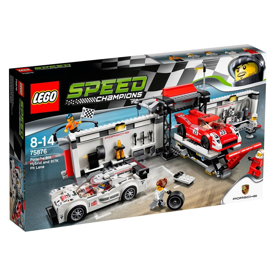 LEGO Speed Champions Porsche 919 Hybrid and 917K Pit Lane 75876 image-0