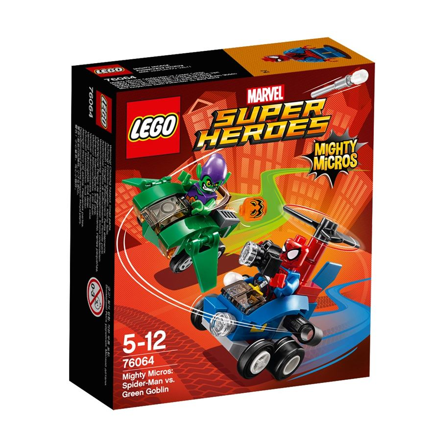 LEGO Marvel Super Heroes Mighty Micros: Spider-Man vs. Green Goblin 76064 - LEGO Marvel Super Heroes UK