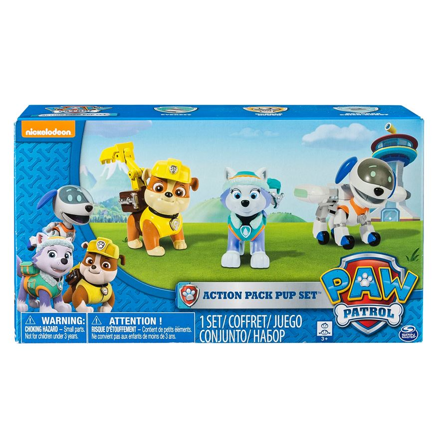 Paw patrol action pack everest robo dog and rubble pup set paw