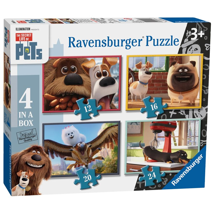 Ravensburger The Secret Life of Pets 4 in a Box Jigsaw Puzzles image-0