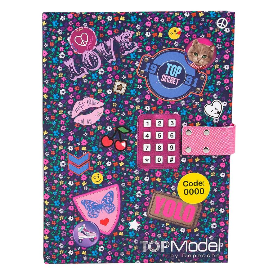 TOP Model Diary with Locking Code - Assortment image-0